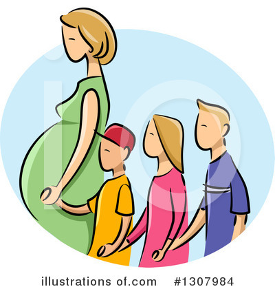 Pregnant Clipart #1307984 by BNP Design Studio