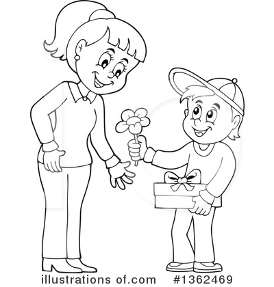 Family Clipart #1362469 by visekart