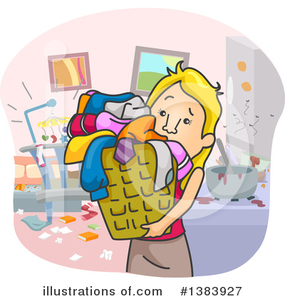 Laundry Clipart #1383927 by BNP Design Studio