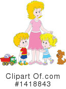 Royalty-Free (RF) Mother Clipart Illustration #1418843