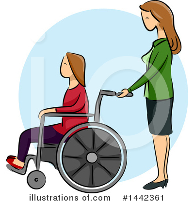 Wheelchair Clipart #1442361 by BNP Design Studio