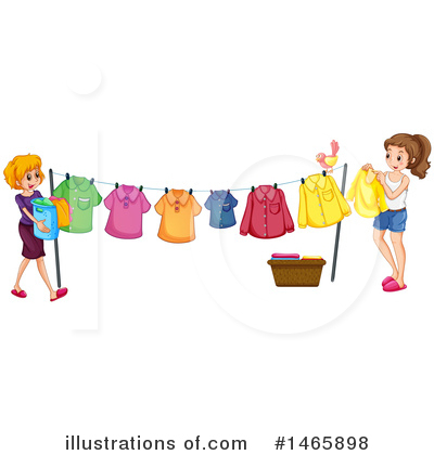 Laundry Clipart #1465898 by Graphics RF