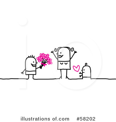 Royalty-Free (RF) Mothers Day Clipart Illustration by NL shop - Stock Sample #58202