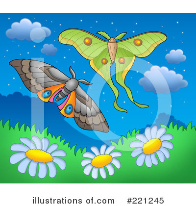 Royalty-Free (RF) Moths Clipart Illustration by visekart - Stock Sample #221245