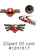Royalty-Free (RF) Motor Sports Clipart Illustration #1201617