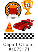 Royalty-Free (RF) Motor Sports Clipart Illustration #1279171