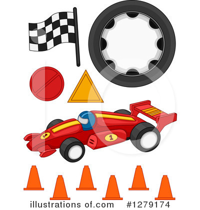 Royalty-Free (RF) Motor Sports Clipart Illustration by BNP Design Studio - Stock Sample #1279174