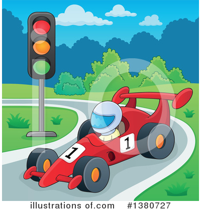 Race Car Driver Clipart #1380727 by visekart