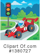 Royalty-Free (RF) Motor Sports Clipart Illustration #1380727
