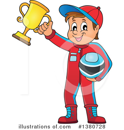 Race Car Driver Clipart #1380728 by visekart