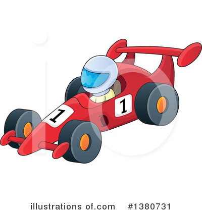Race Car Driver Clipart #1380731 by visekart
