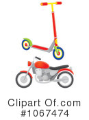 Royalty-Free (RF) Motorcycle Clipart Illustration #1067474