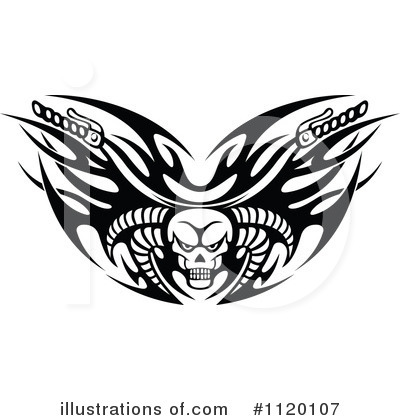 Motorcycle Clipart #1120107 by Vector Tradition SM