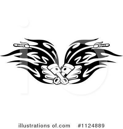 Motorcycle Clipart #1124889 by Vector Tradition SM