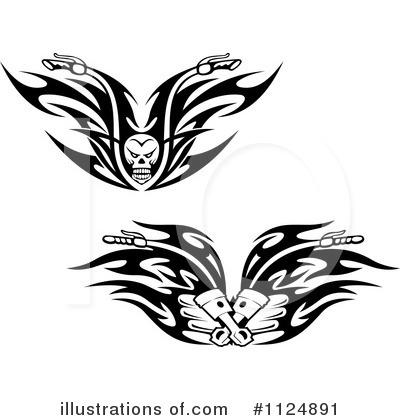 Motorcycle Clipart #1124891 by Vector Tradition SM