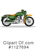 Royalty-Free (RF) Motorcycle Clipart Illustration #1127694
