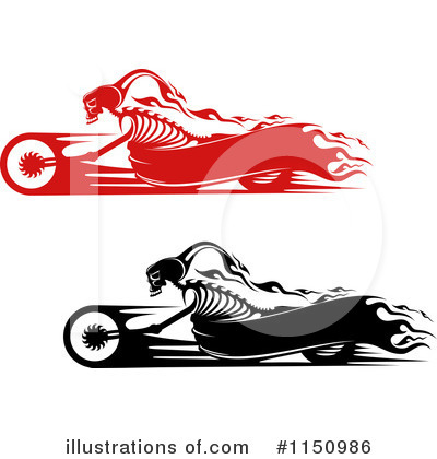 Motorcycle Clipart #1150986 by Vector Tradition SM