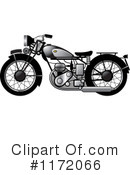 Royalty-Free (RF) Motorcycle Clipart Illustration #1172066