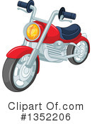 Royalty-Free (RF) Motorcycle Clipart Illustration #1352206
