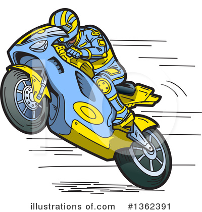 Motorcycle Clipart #1362391 by Clip Art Mascots
