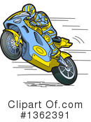 Royalty-Free (RF) Motorcycle Clipart Illustration #1362391