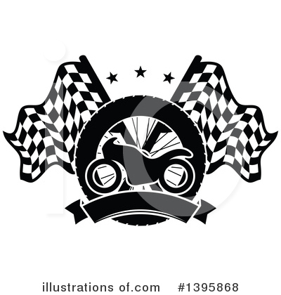 Motorcycle Clipart #1395868 by Vector Tradition SM