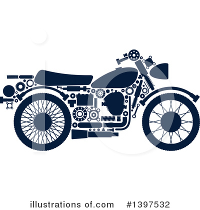 Motorcycle Clipart #1397532 by Vector Tradition SM