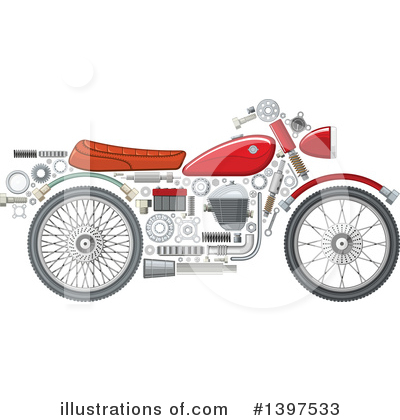 Motorcycle Clipart #1397533 by Vector Tradition SM