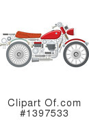 Royalty-Free (RF) Motorcycle Clipart Illustration #1397533
