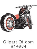 Royalty-Free (RF) Motorcycle Clipart Illustration #14984