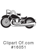 Royalty-Free (RF) Motorcycle Clipart Illustration #16051