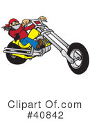 Motorcycle Clipart #40842 by Snowy