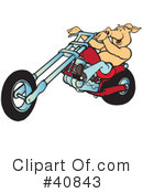 Motorcycle Clipart #40843 by Snowy