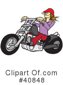 Motorcycle Clipart #40848 by Snowy