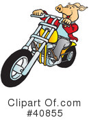 Motorcycle Clipart #40855 by Snowy