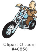 Motorcycle Clipart #40858 by Snowy