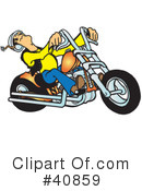 Motorcycle Clipart #40859 by Snowy