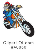 Motorcycle Clipart #40860 by Snowy