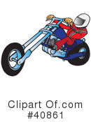 Motorcycle Clipart #40861 by Snowy