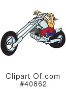 Motorcycle Clipart #40862 by Snowy