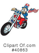 Royalty-Free (RF) Motorcycle Clipart Illustration #40863