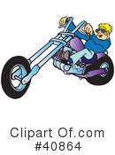 Motorcycle Clipart #40864 by Snowy
