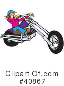 Motorcycle Clipart #40867 by Snowy