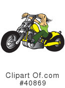 Motorcycle Clipart #40869 by Snowy