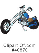Motorcycle Clipart #40870 by Snowy