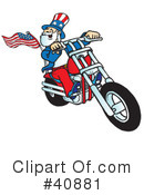 Royalty-Free (RF) Motorcycle Clipart Illustration #40881