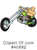Royalty-Free (RF) Motorcycle Clipart Illustration #40882
