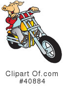 Royalty-Free (RF) Motorcycle Clipart Illustration #40884