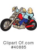 Royalty-Free (RF) Motorcycle Clipart Illustration #40885