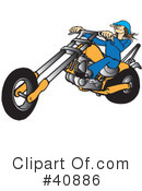 Royalty-Free (RF) Motorcycle Clipart Illustration #40886